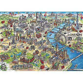Gibsons London Landmarks Puzzle (1000 Teile)