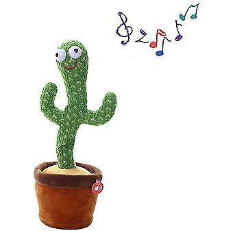 Cactus Peluche Giocattoli Electronic Dancing Cactus, canto Giocattoli per l'educazione della prima infanzia