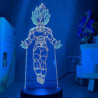 ドラゴンボールゴッテンクスUSB 3Dアニメナイトライト雰囲気リードテーブルランプ
