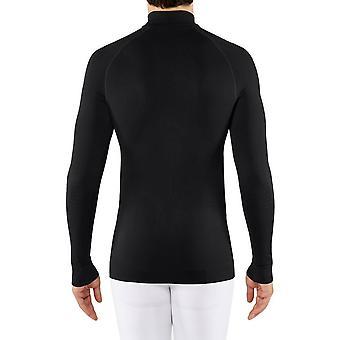 Falke Figur Hugging Reißverschluss Shirt - schwarz