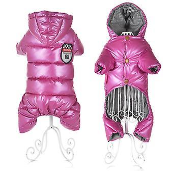 Vêtements pour petits chiens Hiver Chaud Chiot Pet Manteaux de chien couleur imperméable rose