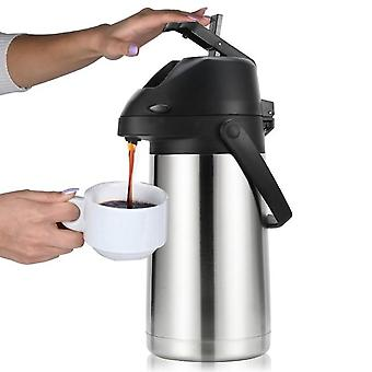 2.5L airpot thermal carafes vacuum pressure insulated coffee dispenser with pump, for coffee beverage water