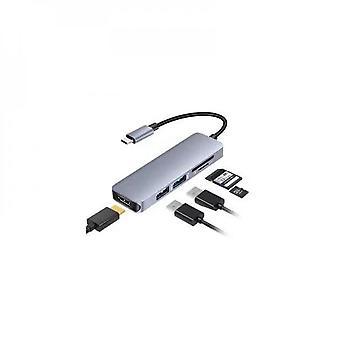 Hub USB C 5-en-1 avec port de charge Usb C