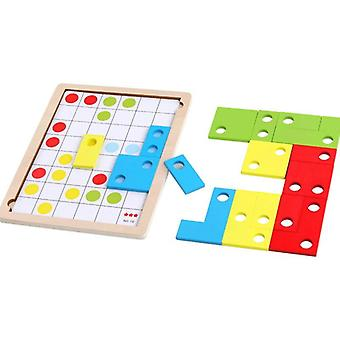 Zabawa drewniane klocki zabawki jigsaw logika myślenie gra pamięci intelektualna zabawka dla dzieci| Bloki