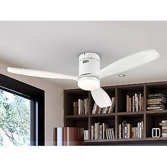Schuller Siroco 6 Speed Ultra Quiet Plafondventilator Mat Wit met LED-licht, afstandsbediening, timer en omkeerbare functies