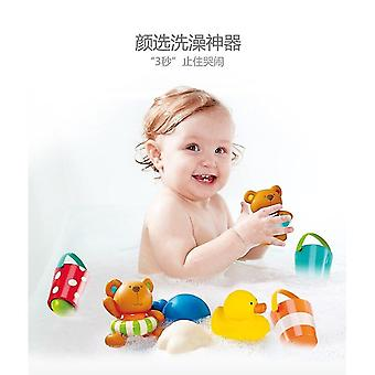 Bath toys 8pcs hape baby bath toys water toy kids toys colourful bucket rubber duck on swimming pool free