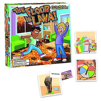 Card games lava jumping the floor is lava play board game for kids and adults