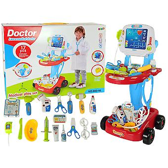 Doktersset kind - met Trolley - 17-delig