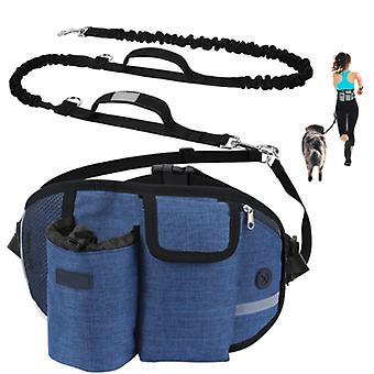 Pet Training Lommer, Pet Snack Tasker, Walking Dog Artefakter, Praktisk Løbelommer, Håndfri Hund Snore Blå