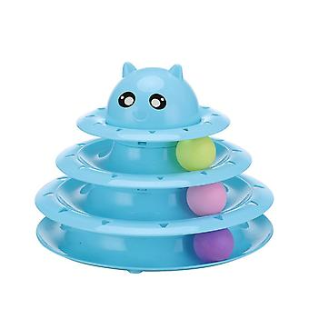 Cat Toy Roller 3-level Turntable Cat Toy