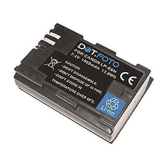 Dot.Foto LP-E6N PREMIUM Remplacement De remplacement Batterie de caméra rechargeable pour Canon - 7.4v / 1865mAh [Voir description de la compatibilité]