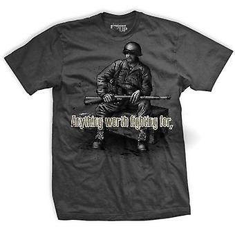 Ranger Up Fight Dirty T-Shirt - Gray
