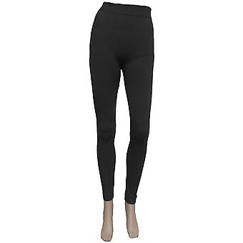 Black Thick Thermal Fleece Lined Leggings TRS133-M-L