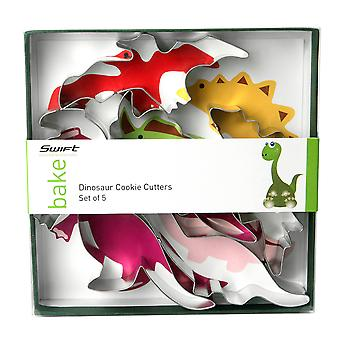 Swift Set of 5 Dinosaur Shaped Cookie Cutters