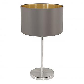 EGLO MASERLO stål Cappuccino bordslampa