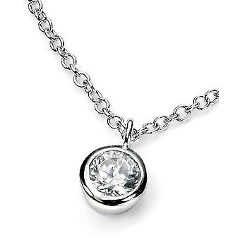 925 Silver Crystal Pendant Necklace