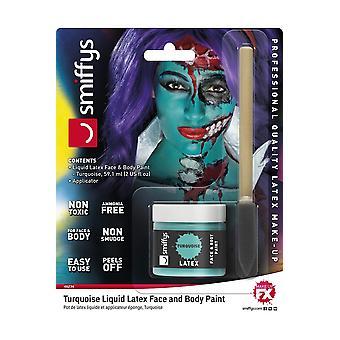 Maquiagem e cílios maquiagem profissional látex turquesa