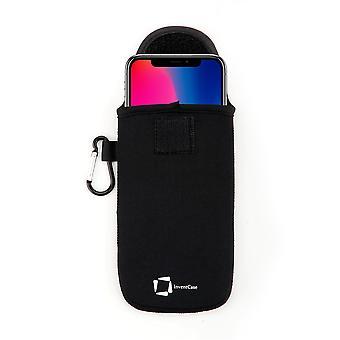 InventCase Neoprene Protector Pouch Case para Apple iPhone X 2017 - Negro