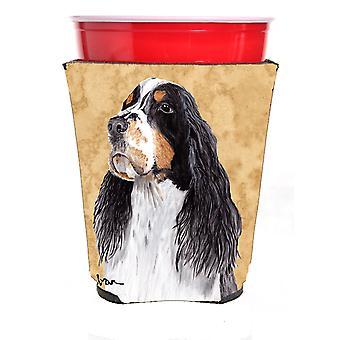 Carolines Treasures  SC9134RSC Springer Spaniel Red Solo Cup Beverage Insulator