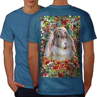 Bunny Cute Nature Animal Men Royal BlueT-shirt Back | Wellcoda