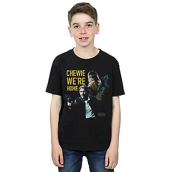 Star Wars Boys Force Awakens Chewie We're Home T-Shirt