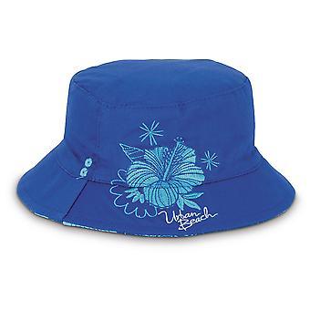 Tytöt Hibiscus Reversible Beanie Hat - Urban Beach