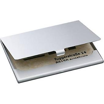 Sigel VZ135 Business card case 15 cards (W x H x D) 92 x 63 x 5 mm Silver (matt) Aluminium