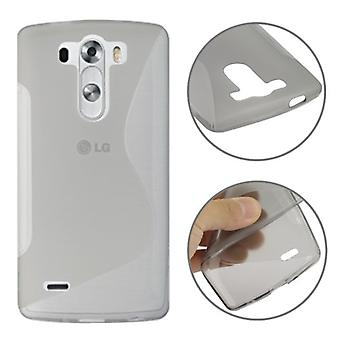 Protective case TPU case cover for mobile LG G3 mini grey