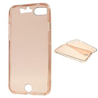 Crystal Case cover voor Apple iPhone 7 roze frame volledige body