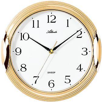 Pared reloj pared reloj cuarzo alta calidad ABS cubierta oro rastrero segundo