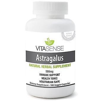 VitaSense Astragalus 500 Mg - Immune System Support - 100 Veg Capsules