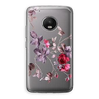 Motorola Moto G5 boîtier Transparent (doux) - jolies fleurs