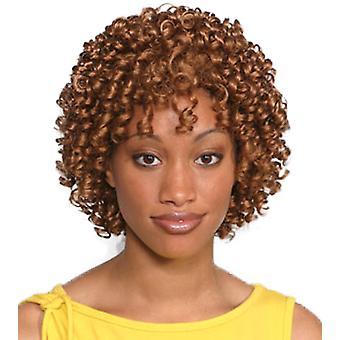 ファッションの女性の短い巻き毛の Aneesa かつらオーバーン