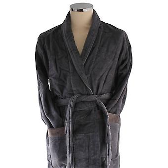 Bown of London Full Moon Short Dressing Gown - Dark Grey