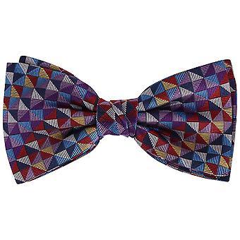 Knightsbridge Krawatte Quadrate Seidenfliege - vielfarbige