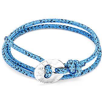 Якорь и экипажа Lerwick серебро и веревки браслет - синий Нуар