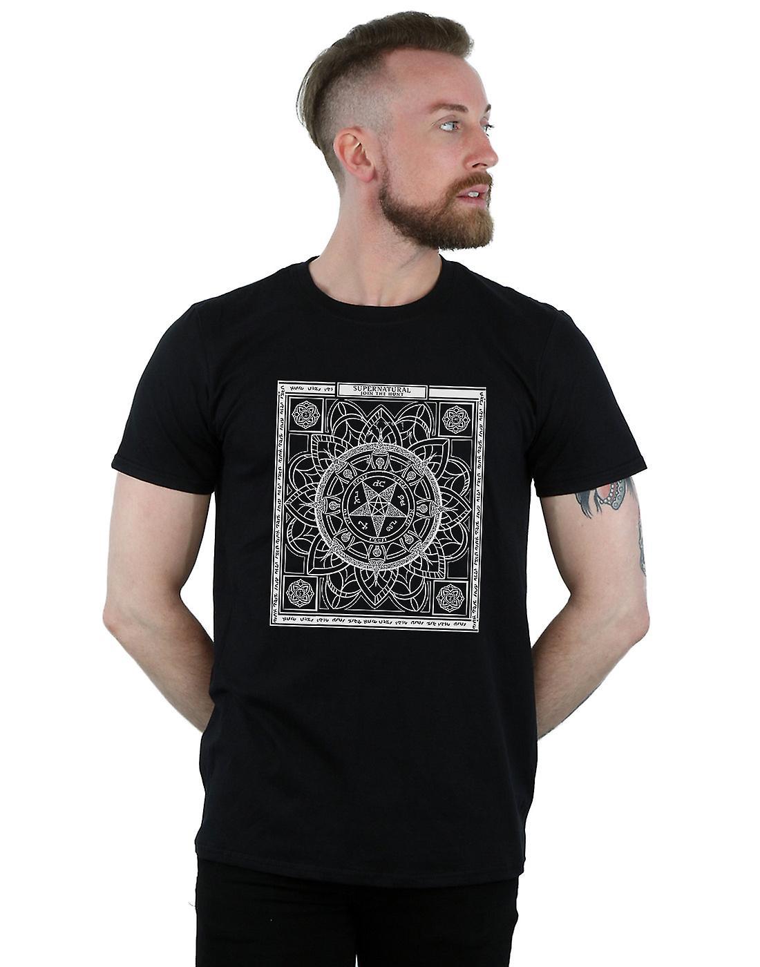 Supernatural Men's Pentagram Pattern T-Shirt