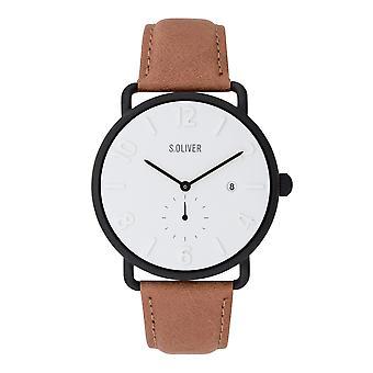 s.Oliver Herren Uhr Armbanduhr Leder SO-3718-LQ