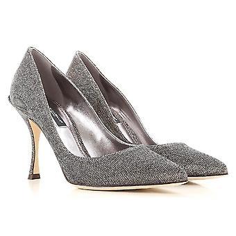 Bombas clásicas de Dolce & Gabbana mujer en efecto lurex plata fibra textil