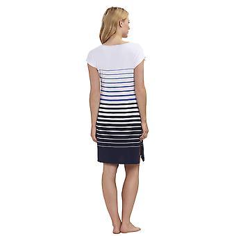 Féraud 3191370-11698 Naiset's Rento Tyylikäs Valkoinen Sininen Raita Yöpuku Loungewear Yöpaita