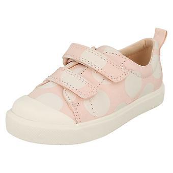 Pour enfants garçons filles Clarks modèle détaillé toile chaussures ville Flare Lo T