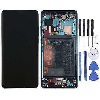 Huawei дисплей LCD блок + рамка для P30 Pro с пакетом 02352PGE голубой / синий новые