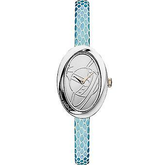 Vivienne Westwood Vv098slbl Twist Silver & blått läder damklocka