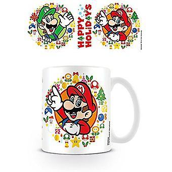 Super Mario Happy Holidays Coffee Mug Ceramic