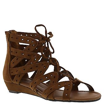 Madeline Girl Womens Finesse Fabric Open Toe Casual Strappy Sandals