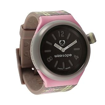 Wize and Ope Varsity  Grey and Pink Shuttle Watch SH-VAR-3