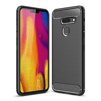 LG G8 ThinQ Kohlefaser Textur Schale-Schwarz