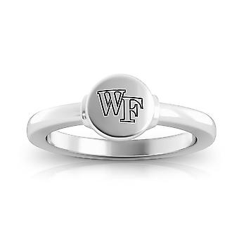 Wake Forest University Engraved Sterling Silver Signet Ring