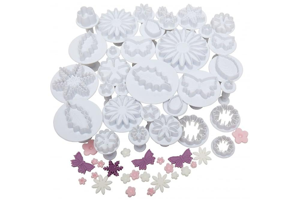 Andrew James Cake Decorating 32 Piece Plunger Cutter Set
