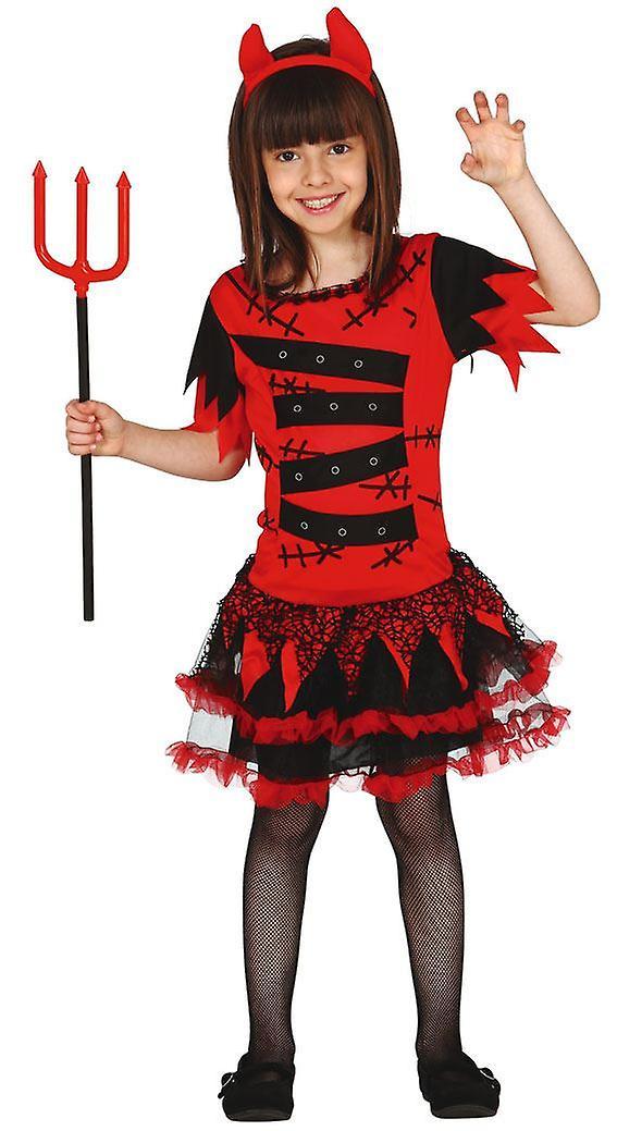 Filles Devil Monster Halloween Fancy Dress Costume